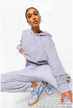 Grey marl Basic Soft Mix & Match Oversized Hoodie