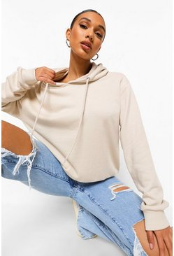 Stone Basic Soft Mix & Match Oversized Hoodie