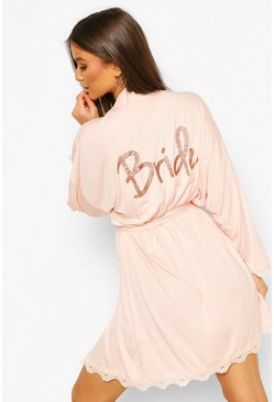 Bride Soft Oversized Robe, Blush