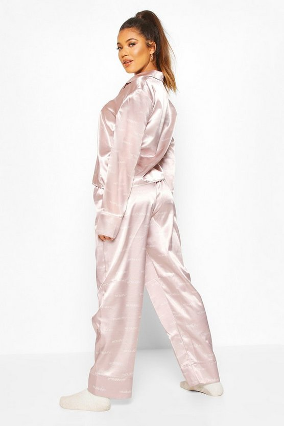 Woman Satin Trouser Pyjama Set