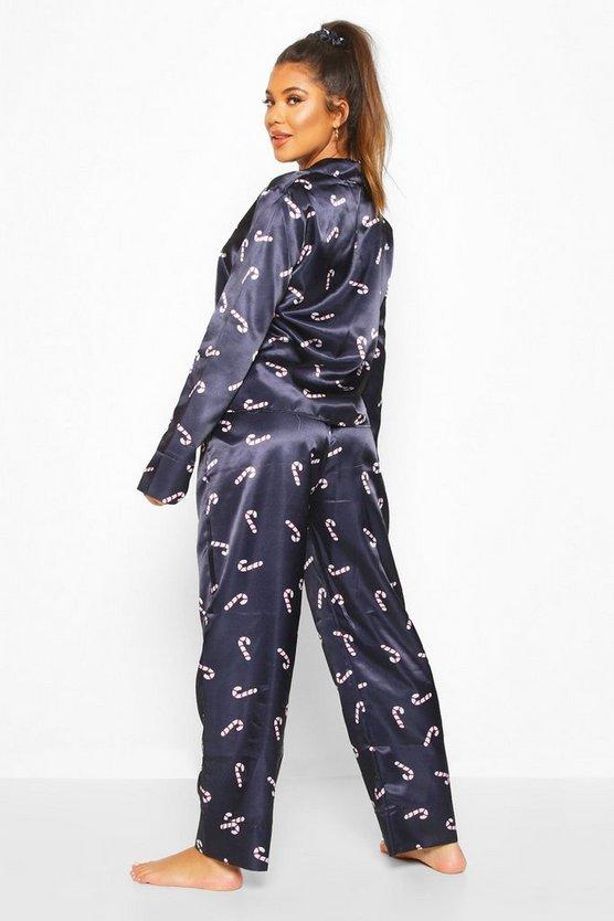 Christmas Satin Printed 5pc Pyjama Set