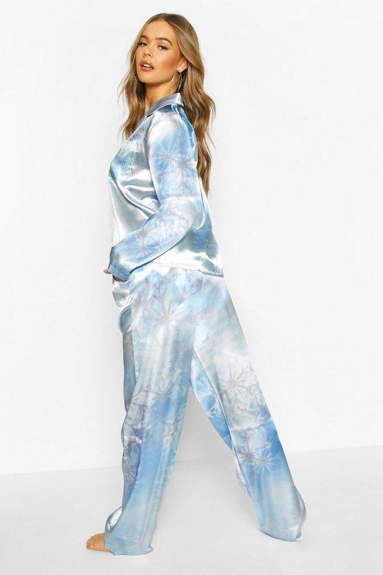 Disney Frozen Snowflake Trouser 3pc Pyjama Set