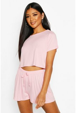 Blush Soft Tee & Short Pyjama Set