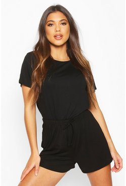 Black Soft Mix & Match Pyjama Short