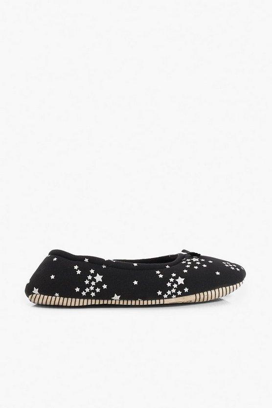 Star Print Soft Pump Slippers