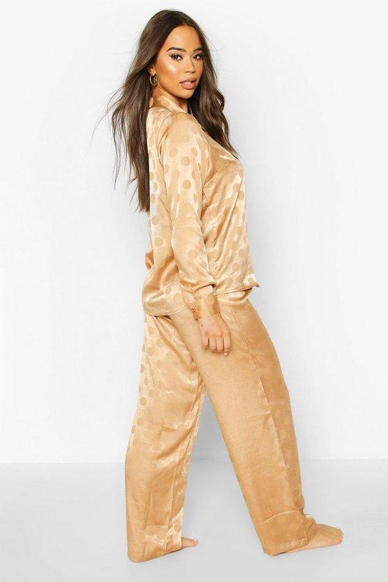 Satin Polka Dot L/S Pyjam Set