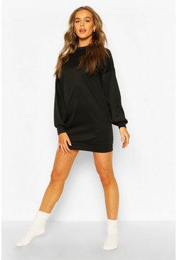 Womens Black Soft Oversized Lounge Dress