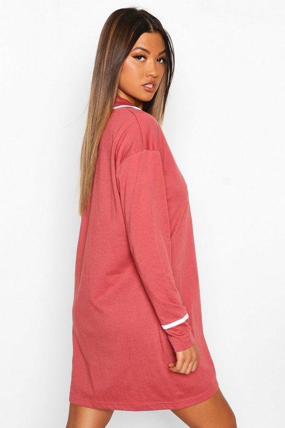 Button Through Oversized Shirt Nightie
