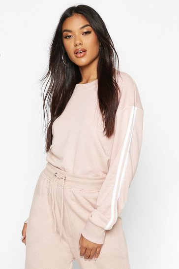Stone Side Stripe Soft lounge Sweat