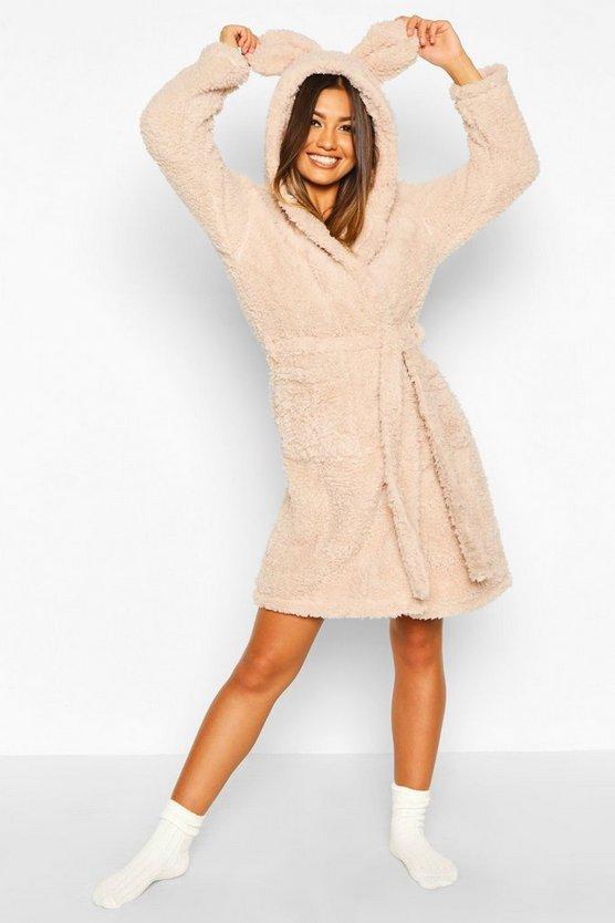 Super Soft Hooded Fleece Dressing Gown