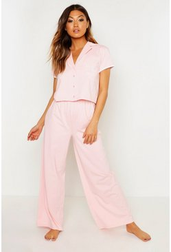 Womens Blush 'Mother of the Bride' Button Through PJ Set