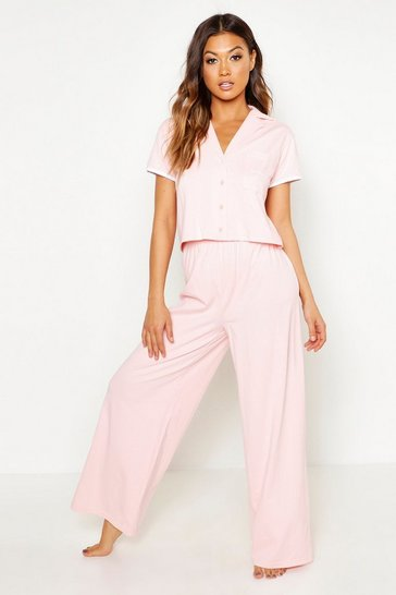 Womens Blush 'Bridesmaid' Pocket Print Button Through PJ Set
