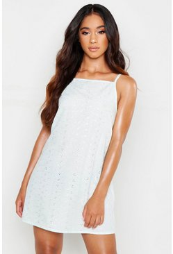 Womens Mint Premium Broderie Anglaise Nightie