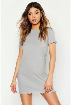 Womens Grey marl Lettuce Hem Nightie