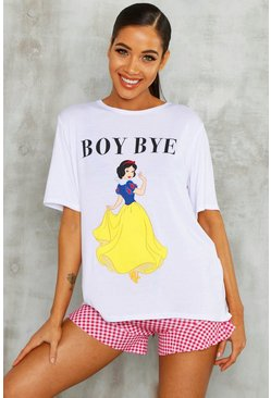 Womens Disney Snow White Check Licence PJ Short Set