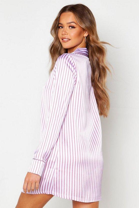 Satin Stripe Nightshirt