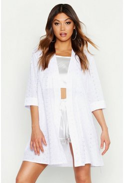 White Premium Broderie Anglaise Robe