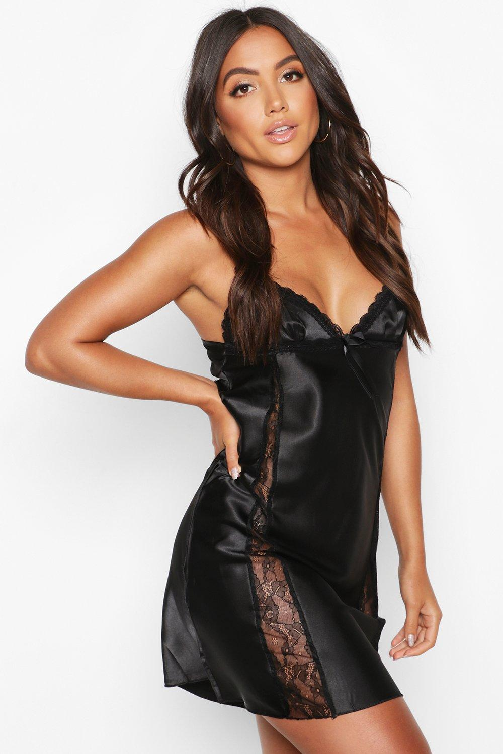 Clearance sale 60% discount new release Lace Trim Satin Night Slip | Boohoo