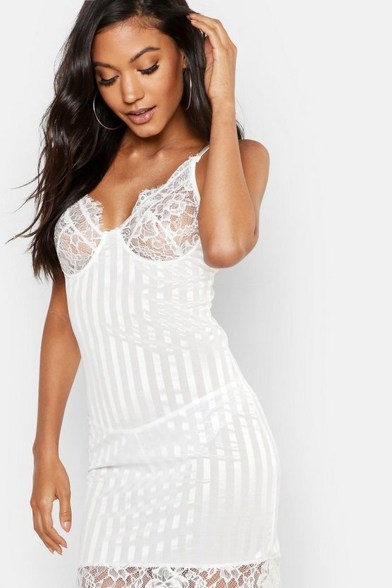 Lacey Stripe Detail Chemise