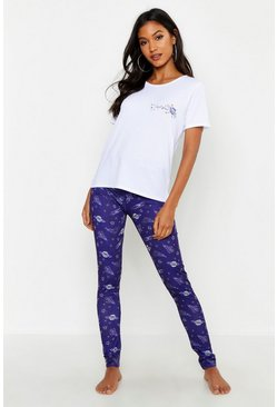 Womens Navy I Need Space PJ Set