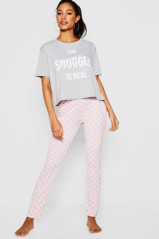 The Snuggle is Real Glitter Pj Set