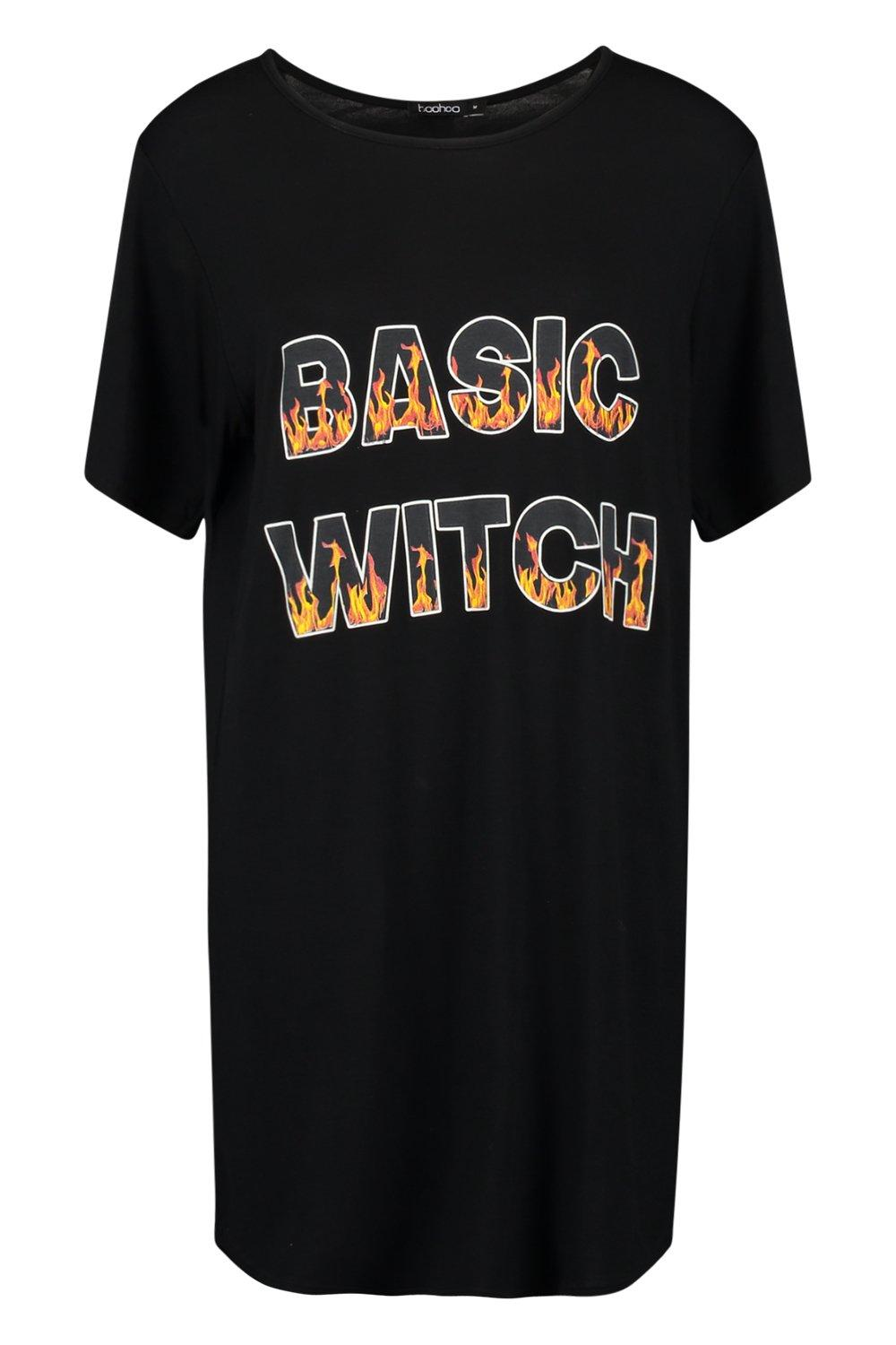 Witch Basic Halloween black Basic Tee Witch black Tee Halloween fHgqS