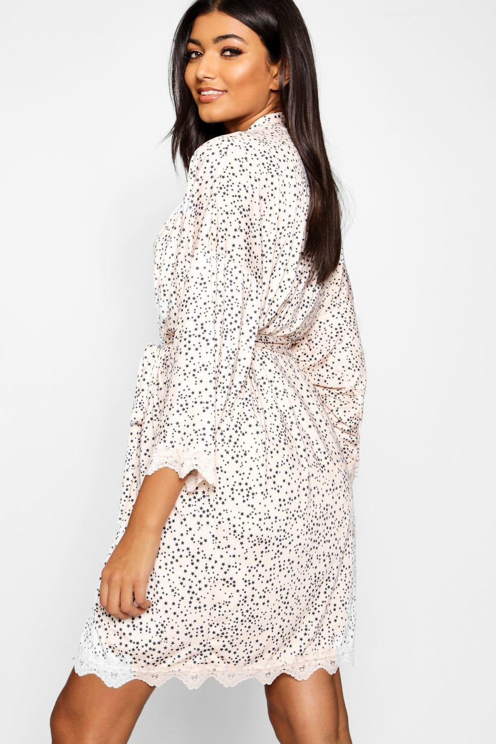 Lace blush Print Star amp; Robe 86FAZvq