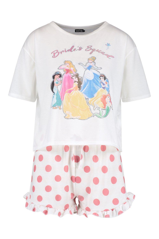 Disney Set Squad' Short 'Brides Frill PJ white Princess rRqCwr