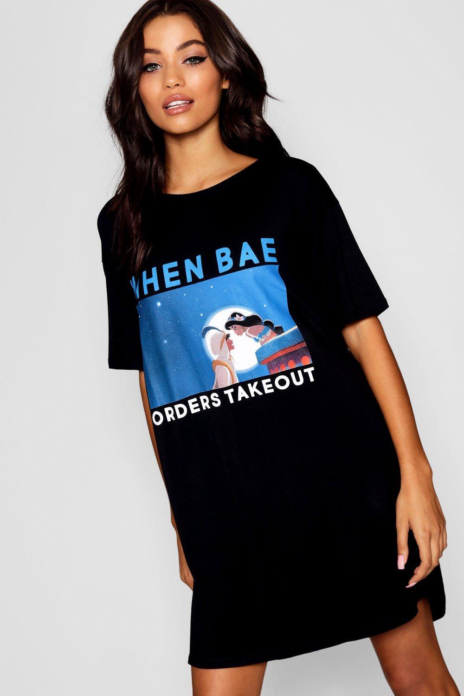 de Aladino Disney y dormir Camiseta de de negro Jasmín Fn4anBxq