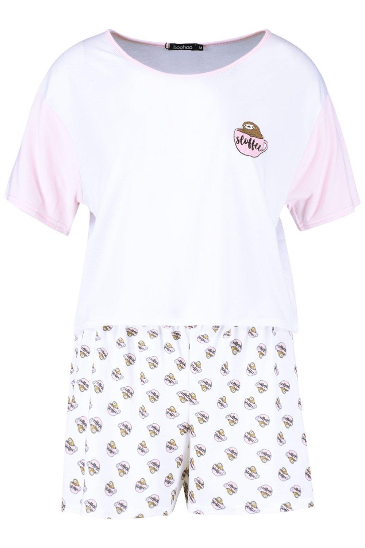 "Conjunto pijama Conjunto de de ""Sloth pijama pijama corto ""Sloth corto Conjunto ""Sloth corto corto de Conjunto xUEqYRqz"