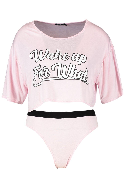 """camiseta braguitas """"Wake For de Up y Conjunto w0gzqtx"""