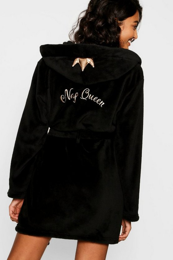 Nap Queen Crown Dressing Gown by Boohoo