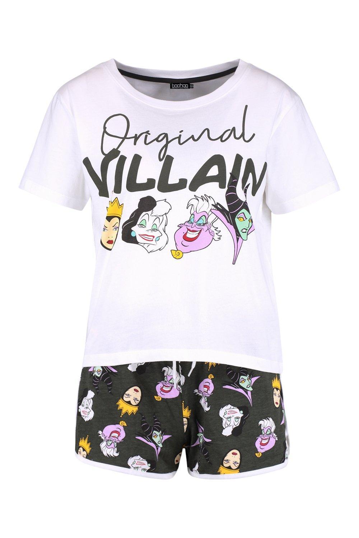 Conjunto de los negro de con shorts villanos Disney wwTCZOqt