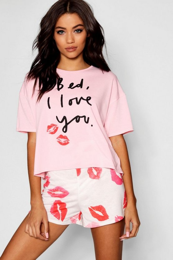 Bed I Love You PJ Short Set