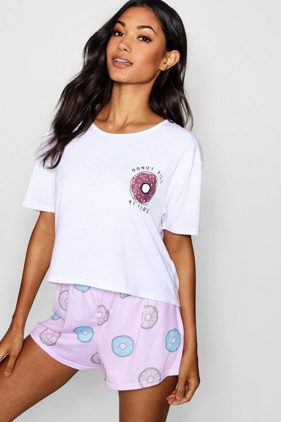 Donut Kill My Vibe PJ Short Set