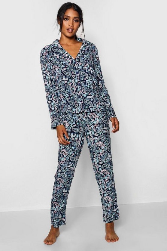 Paisley Print Long Sleeve Pyjamas