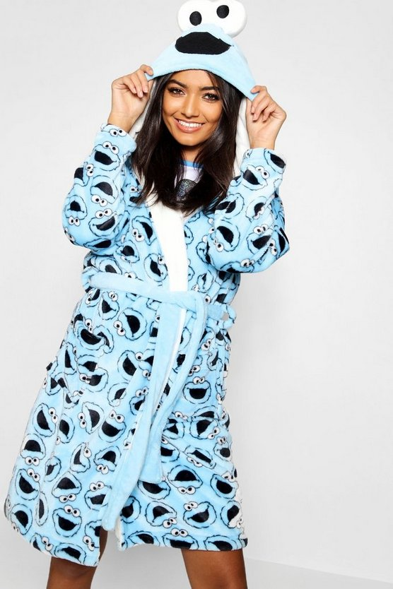 Cookie Monster Hooded Dressing Gown