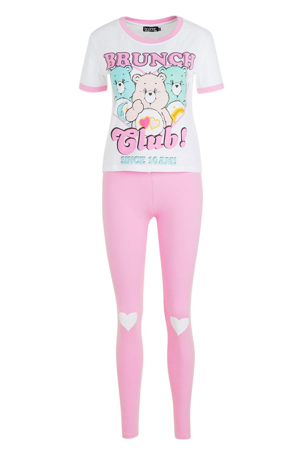 pijama Bears los Club Brunch de de rosa Care Conjunto vqF54ZOx