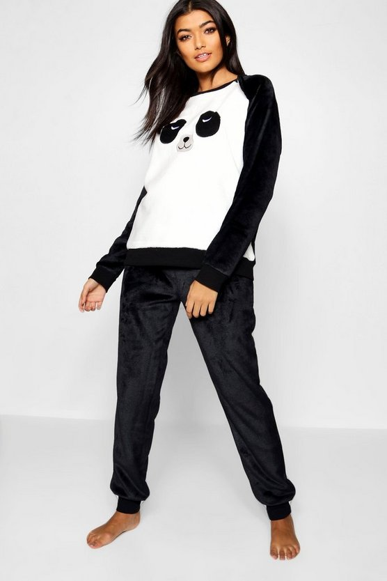 Womens Black Panda Twosie