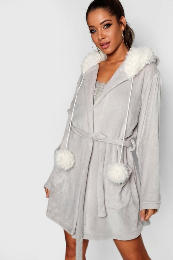 Pom Pom Bear Dressing Gown
