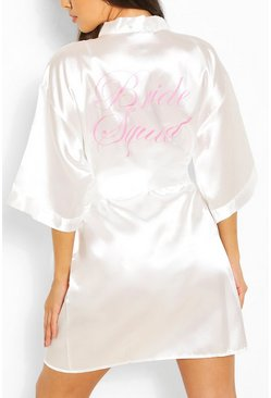 Ivory Brides Squad Metallic Robe