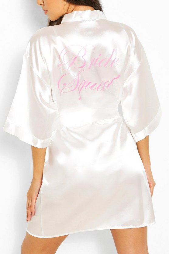 Womens Ivory Brides Squad Metallic Robe