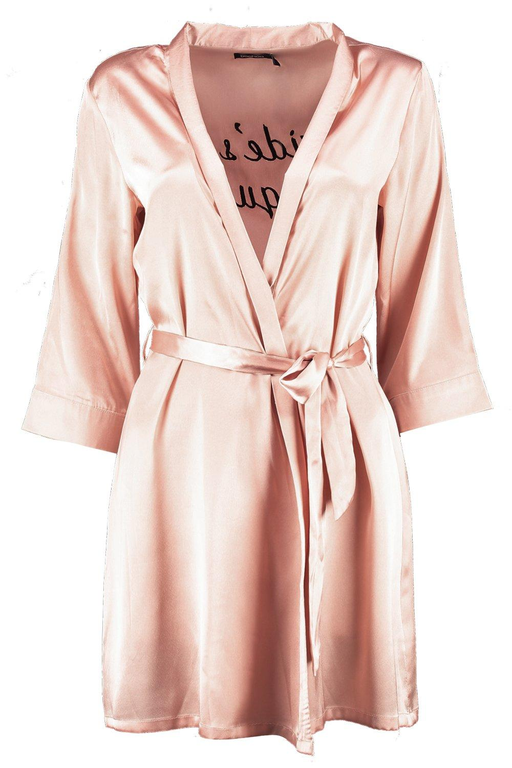 Squad Brides Satin gold rose Robe SBWXqwv