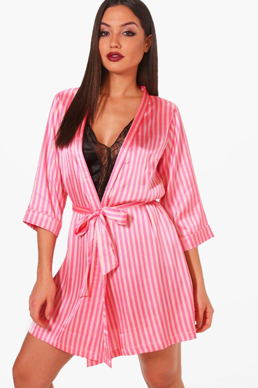 Robe Brides Candy Stripe pink Squad 5tPSvwSq