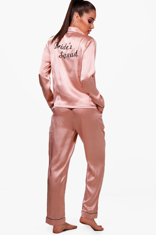 rose Set Satin Brides Squad gold Trouser w4Aqg4RPxp