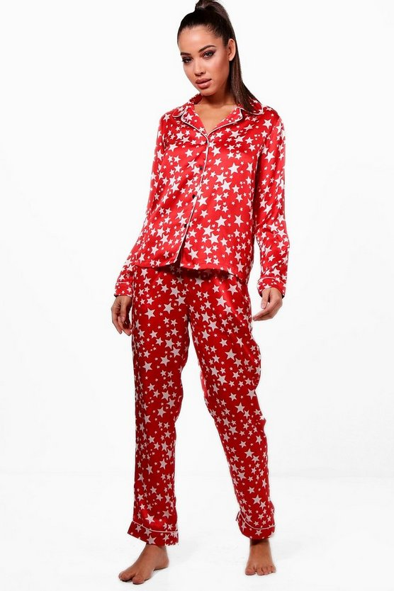 Star Print Shirt & Trouser Set