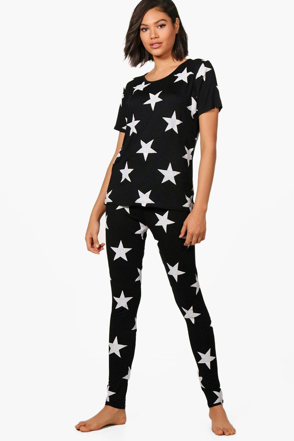2018 shoes purchase newest outlet for sale Sophia Star Print T & Legging PJ Set | Boohoo