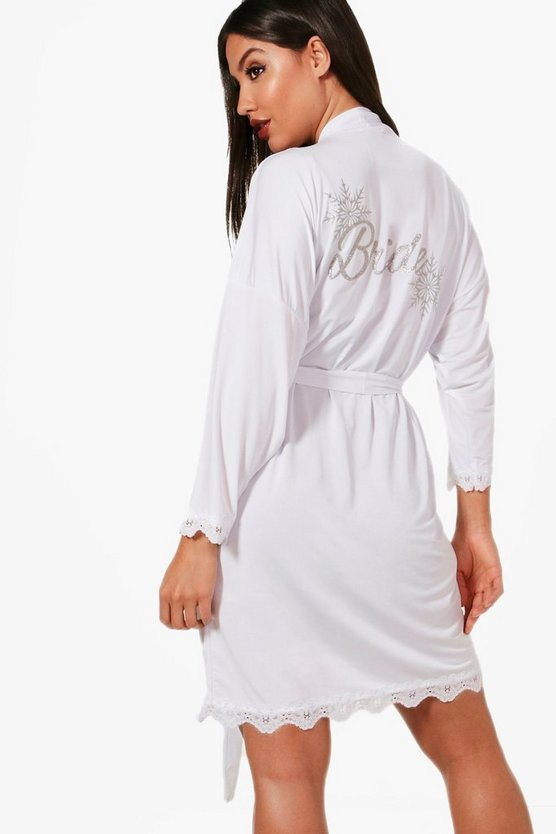 Yasmin Winter Wedding Bride Robe