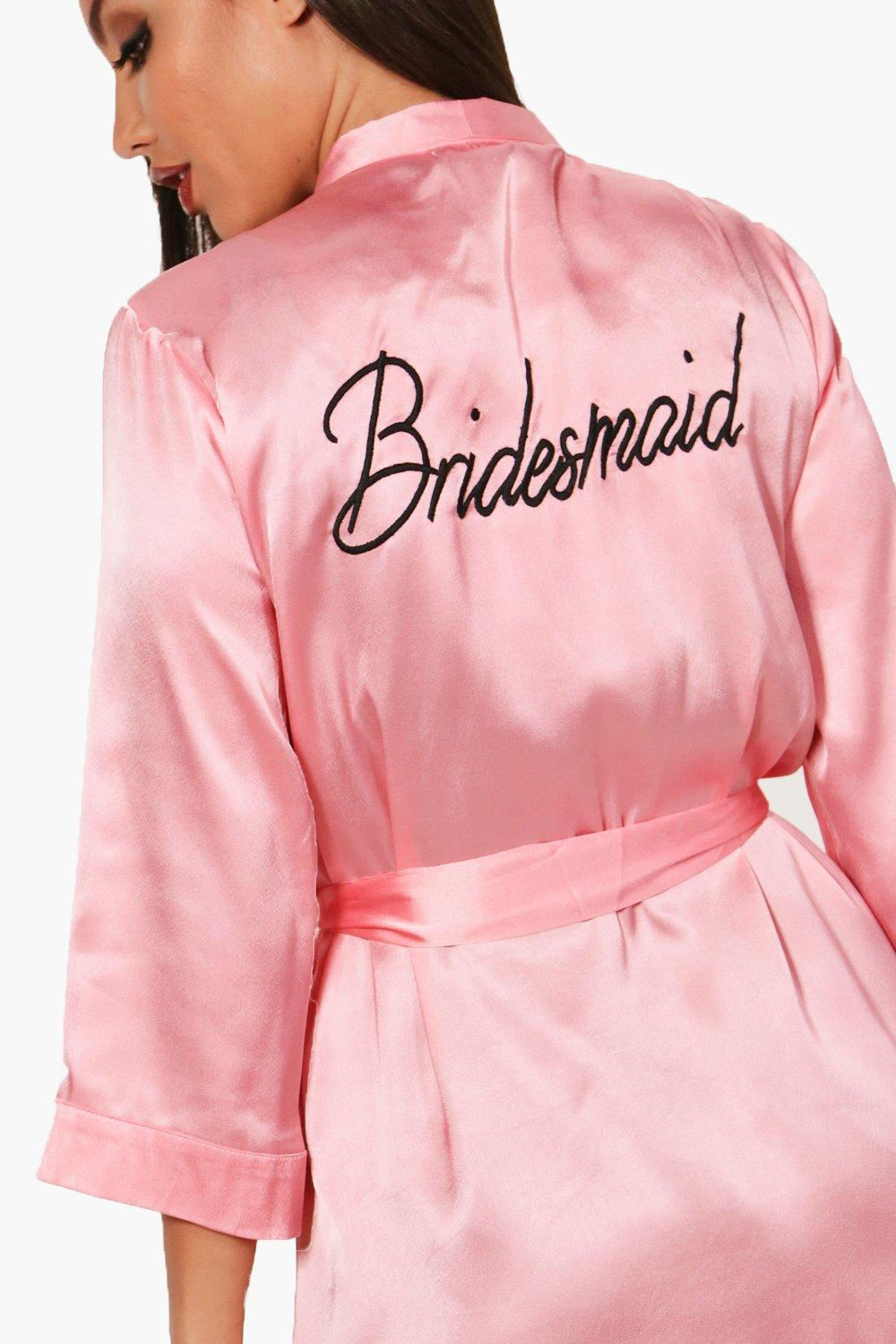 blush Satin 'Bridesmaid' blush Robe Satin 'Bridesmaid' Robe 'Bridesmaid' Robe Satin tO0xwtWzq5