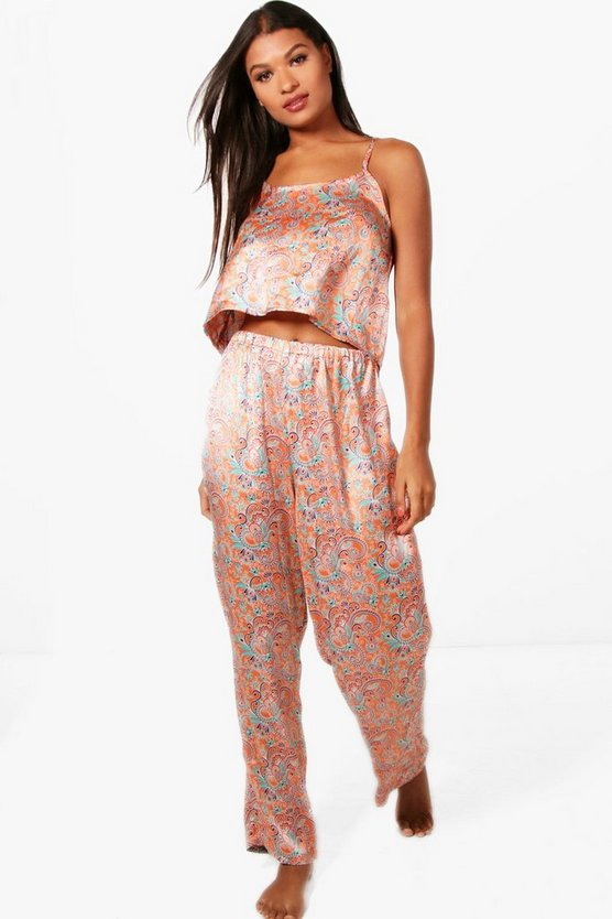 Anna Paisley Cami And Trouser Set